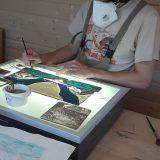 Joe glass painting
