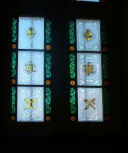Transom windows 1 at St-Angèle-de-Monnoir, Québec